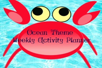 Ocean Theme - Weekly Learning Planner