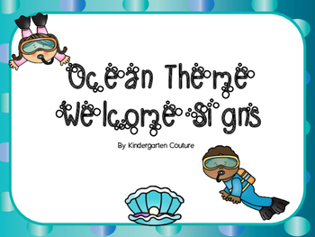 Ocean Theme Welcome Signs FREE