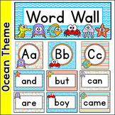 Ocean Theme Editable Word Wall Cards and Letters - Under the Sea Classroom