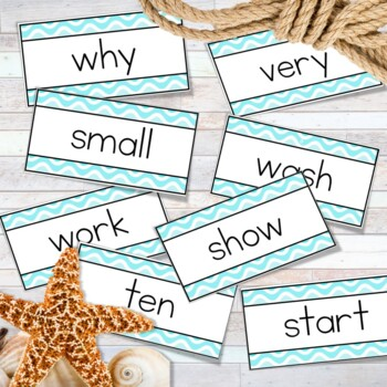 Ocean Theme Word Wall Banner and Labels - Editable ocean Theme Classroom Decor