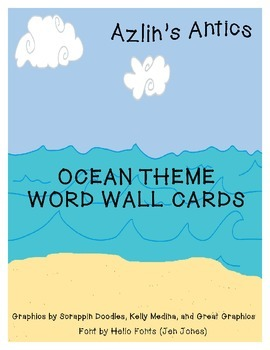 Ocean Theme Word Wall Cards