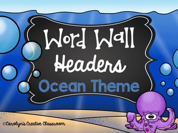 Ocean Theme Word Wall Headers