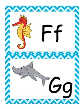 Ocean Theme Word Wall Letter Headings