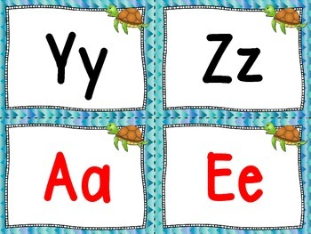 Ocean Theme Word Wall Letters and Fry Words 1st 100