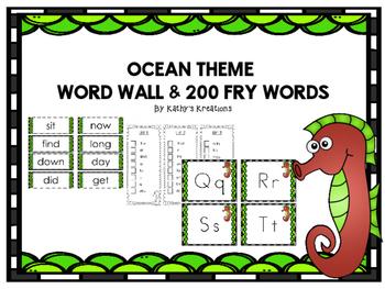 Ocean Theme Word Wall -Seahorse