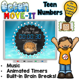 Ocean Theme Working on Teen Numbers MOVE IT!