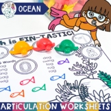 Ocean Theme Worksheets for Articulation