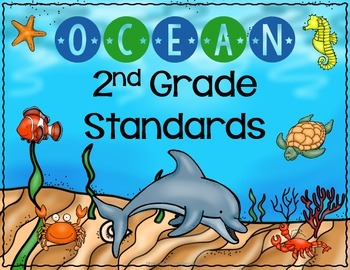 Ocean Theme Write and Wipe Standards Posters