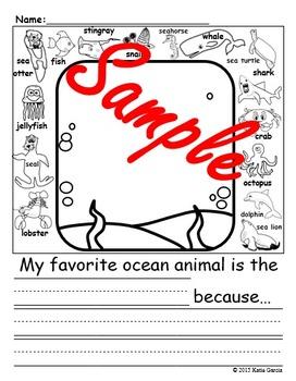 Ocean Theme Writing Prompt