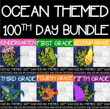 Ocean Themed 100th Day Whole-School License Bundle