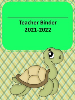 Ocean Themed 2016-2017 Complete Teacher Binder