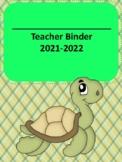 Ocean Themed 2017-2018 Complete Teacher Binder