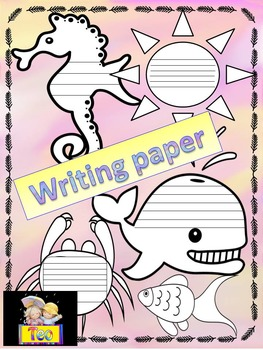 Ocean Themed - Sea - Ocean - Writing Paper - Poster Activity