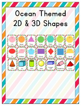 Ocean Themed 2D and 3D Shapes
