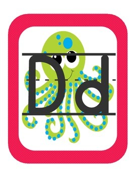 Ocean Themed ABC printables