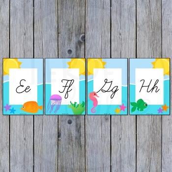 Ocean Themed Alphabet Cards