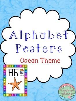 Ocean Themed Alphabet Posters