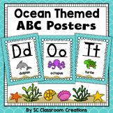 Ocean Themed Alphabet Posters- Classroom Decor