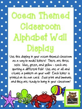 Ocean Themed Alphabet Wall Display