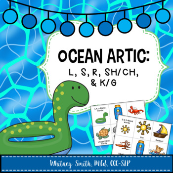 Ocean Themed Articulation Cards for Speech Therapy