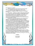 Ocean Themed Back to School Letter (Editable)
