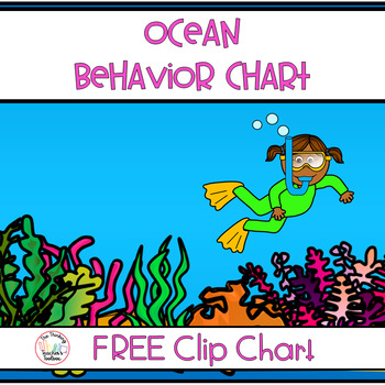 Ocean Themed Behavior Chart - Instructions Included