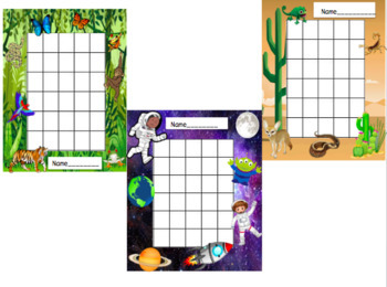 Ocean Themed Behavior Charts (Clip and Sticker Charts)