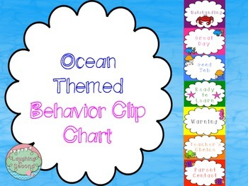 Ocean Themed Behavior Clip Chart