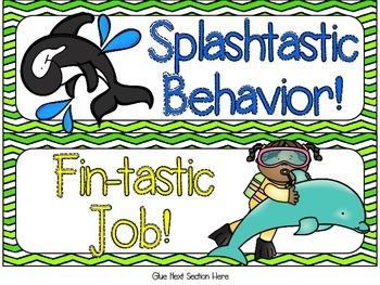 Ocean Themed Behavior Clip Chart - DF Version