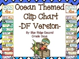 Ocean Themed Behavior Clip Chart - DF Version