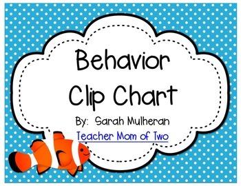 Ocean Themed Behavior Clip Chart - Polka Dots