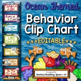 Ocean Themed Behavior Clip Chart with EDITABLE Pages