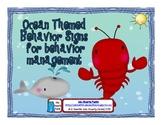 Ocean Themed Behavior Signs