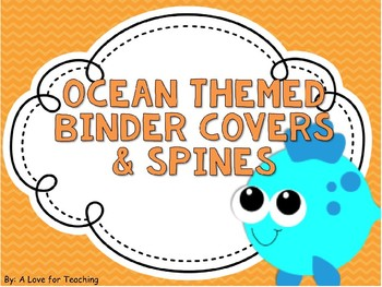 Ocean Themed Binder Covers and Spines {Editable}