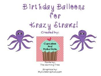 Birthday Balloons Ocean Themed