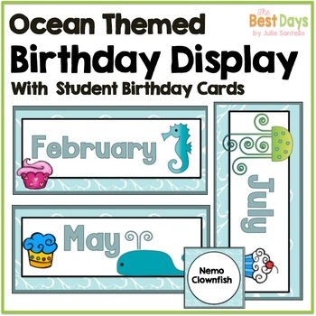 Ocean Themed Birthday Display