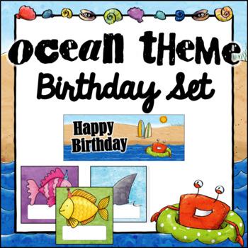Birthday Board- Ocean Theme ~ Editable