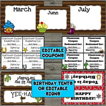Cowboy/Western Birthday- Editable