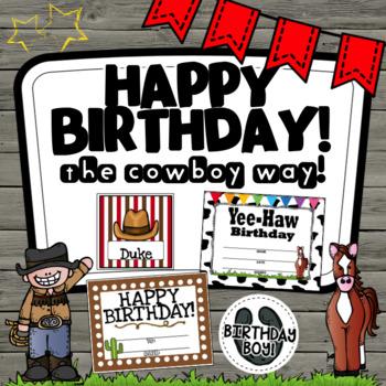 Cowboy Western Birthday- Editable