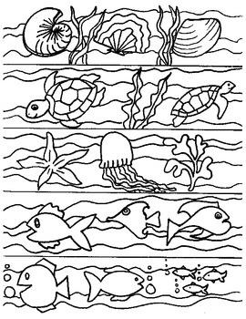 Ocean Themed Bookmarks