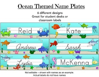 Ocean Themed Classroom Decoration and Resources Bundle