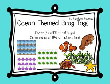 Ocean Themed Brag Tags! Over 70 Different Tags!