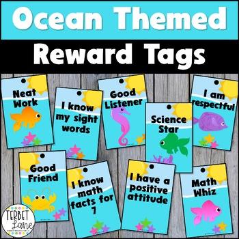 Ocean Themed Brag Tags
