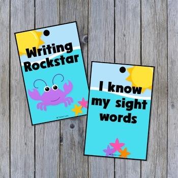 Ocean Themed Award Tags