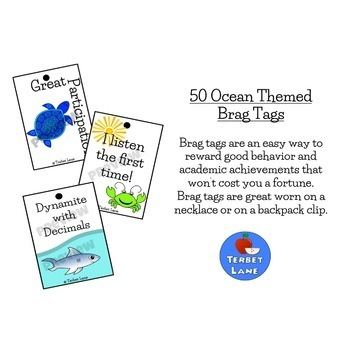 Ocean Themed Reward Tags