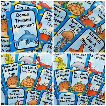 Ocean Themed Brain Break Cards -Ocean Themed Activities
