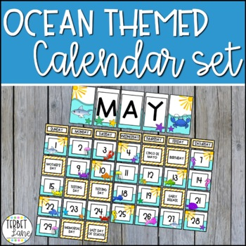 Ocean and Sea Creature Pocket Calendar