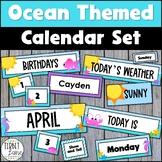 Ocean and Sea Creature Pocket Calendar