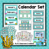 Ocean Themed Calendar Set-Classroom Decor