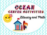 Summer/Ocean Themed Center Packet: Literacy and Math Activities
